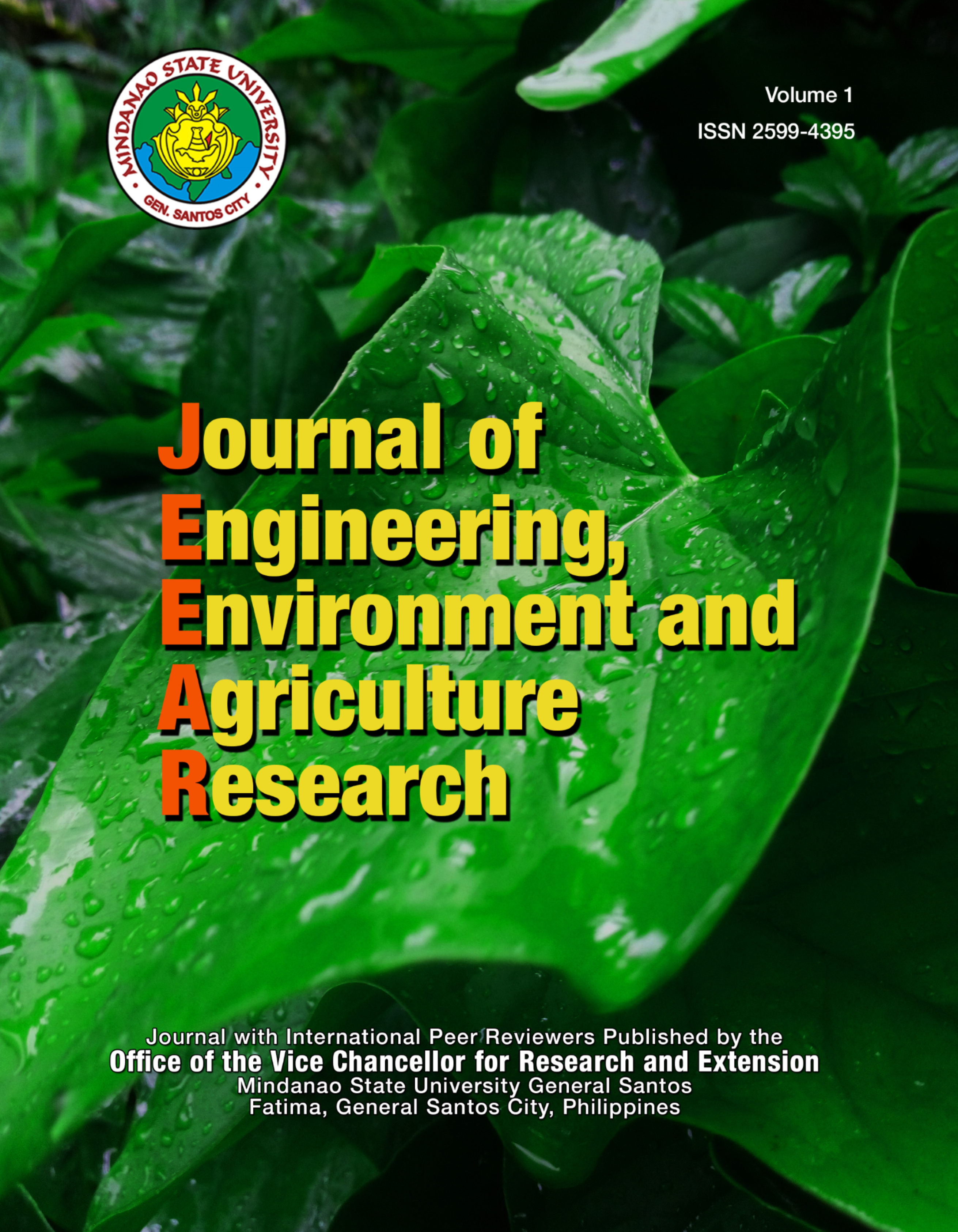 Vol 1 (2018): Journal of Engineering, Environment and